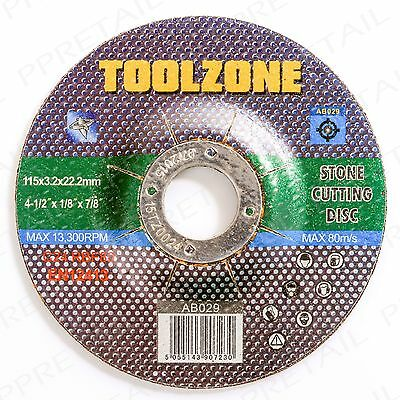"4.5"" REINFORCED Stone Cutting Disc Grinding Wheel Depressed Centre Blade Saw"