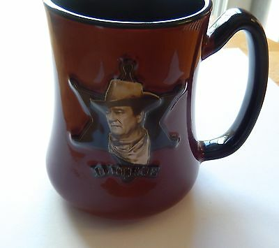 John Wayne Coffe Mug-DUKE picture of John Wayne-Sheriff's Star-creed to live by