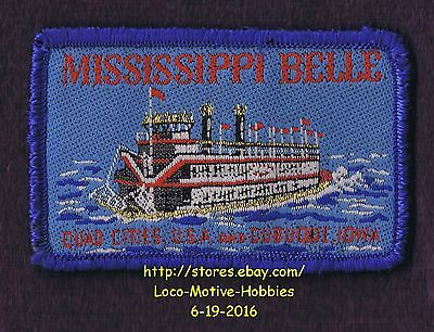 LMH Woven Patch  MISSISSIPPI BELLE Steamboat  RIVERBOAT Paddleboat QUAD CITIES