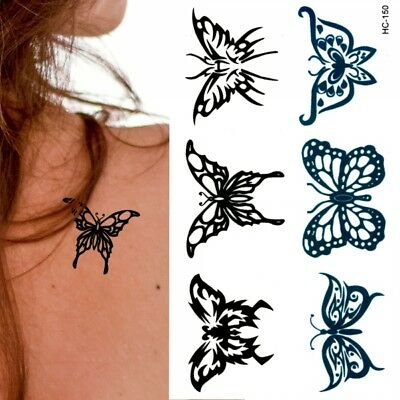 t404 temporary einmal tattoo tribal schmetterling haut. Black Bedroom Furniture Sets. Home Design Ideas