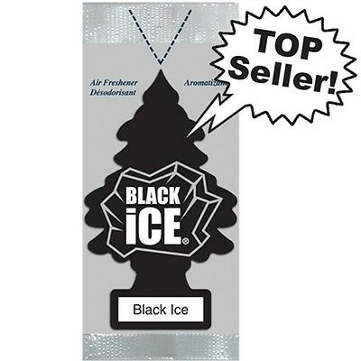 Little Trees Hanging Car and Home Air Freshener, Black Ice Pack of 30 Wholesale
