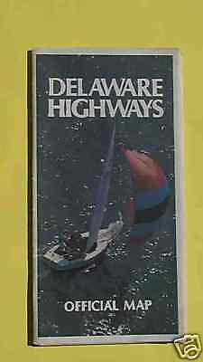 1970's Delaware official highway state road map