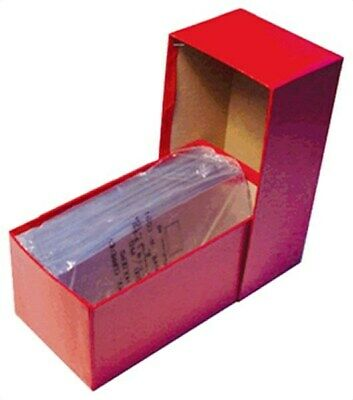 Guardhouse Large Older US Currency / Dollar Bill Red Cardboard Storage Box