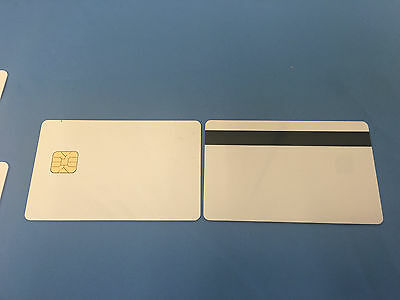 SLE 4428 Contact IC - Big Chip - White PVC Smart Card w/ HiCo 2 Track - 100 Pack
