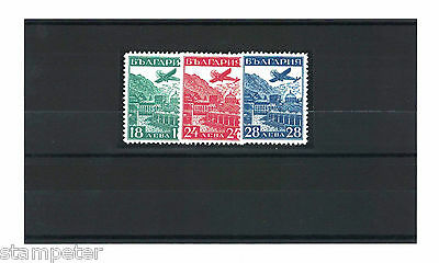 1932 Bulgaria Aircraft SG 323/5 Set of 3 MLH