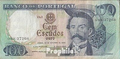 Portugal Pick-number: 169a used (III) 1965 100 Escudos
