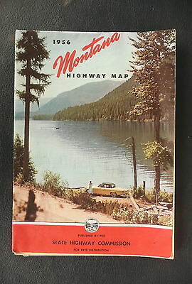 1956 Montana official highway state road map Studebaker cover