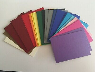 ATC Artist trading cards 40 Mixed Colours blank stock 270gsm 90 x 64mm