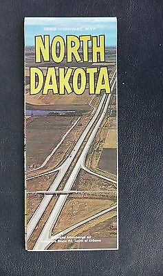 1960 North Dakota official highway state road  map