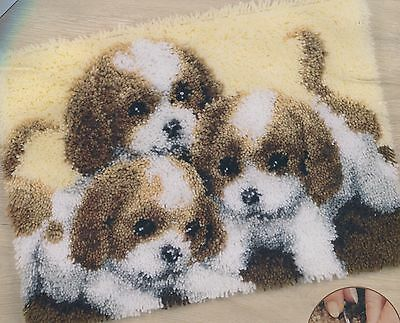 Knüpfpackung Knüpfen Teppich 50x40 cm Hund Hunde Welpen Puppy puppies chiots