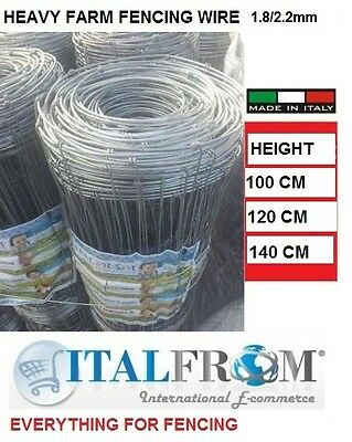 100mt-galvanized knotted wire mesh roll-pig/sheep/cattle fencing