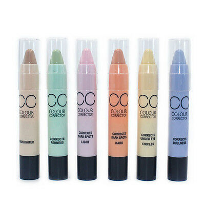 6 Colors Corrector Concealer Stick Shades Highlighter/Eye Circle/Redness