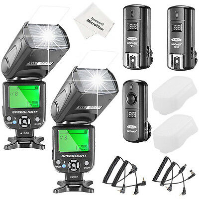 Neewer NW-561 LCD Screen Flash Speedlite Kit f Canon Nikon&Other DSLR Cameras