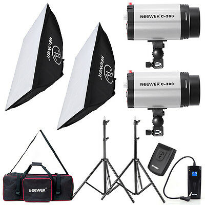 Neewer 600W Monolight Strobe Flash Light Softbox Lighting Kit f Video Shooting