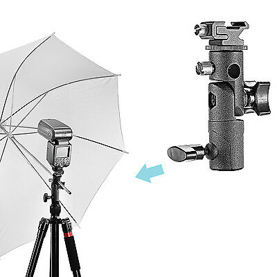 Neewer Universal E Type Camera Speedlite Umbrella Shoe Holder with Swivel Braket