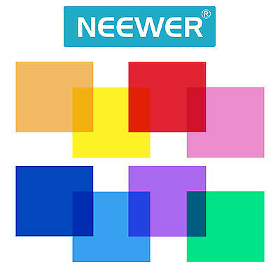 "Neewer 12x12""/30x30CM Transparent Color Correction Light Gel Filter Set (8 pcs)"