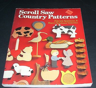 How To Craft Wood Book Scroll Saw Country Patterns Book 1990