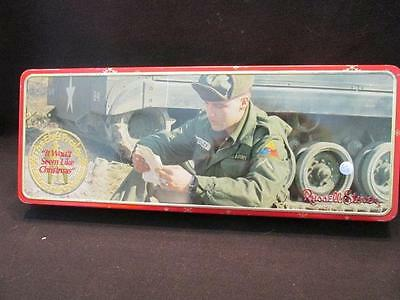 Elvis Presley in Army Uniform It Won't Seem Like Christmas Russell Stover Tin