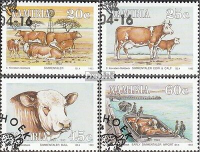 Namibia 739-742 fine used / cancelled 1993 Simmentaler-Cattle