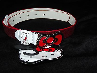 Bnwt Hello Kitty Red Glitter Bow Belt