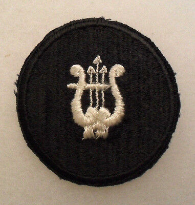 "Rare 1940's C.a.p Bandsman Disc Mark White On Black No Glow 2 1/4"" Diameter Ce"
