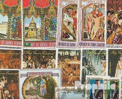 Africa 50 different stamps  Guinea, -Equatorial and -Bissau