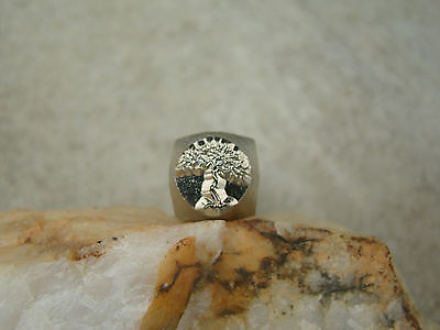 """""""Dead Tree"""" Nature 1/2""""-9.5mm-Large Stamp-Punch-Metal-Steel-Gold & Silver Bars"""
