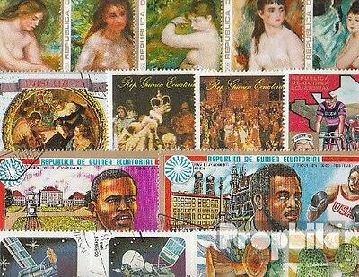 Africa 100 different stamps  Guinea, -Equatorial and -Bissau