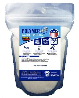 5 lbs Medium Water Absorbing Polymer Crystals Soil Moist Cricket Made in USA