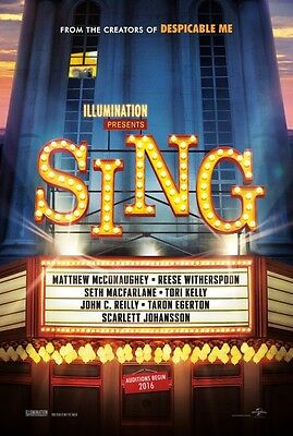 Sing - original DS movie poster - 27x40 D/S Advance