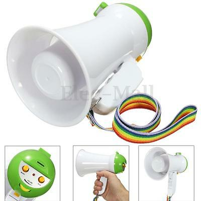Portable Handheld Megaphone Foldable 5W Speaker Bullhorn Voice Amplifier Loud