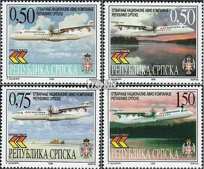 Serbian Republic bos.-h 119-122 mint never hinged mnh 1999 Airline