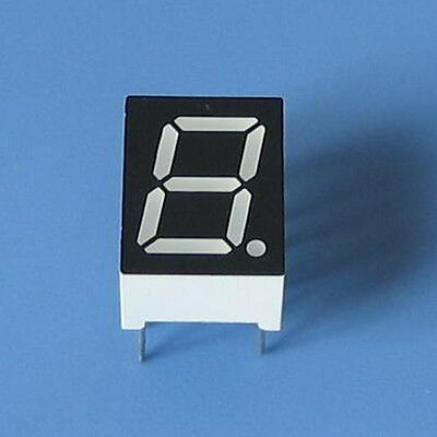 10pcs 0.39 inch 1 digit led display 7 seg segment Common cathode 阴 red 0.39""