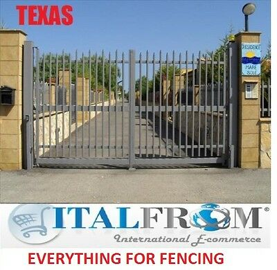 Double gates panel fencing railing galvanized wrought iron (TEXAS)