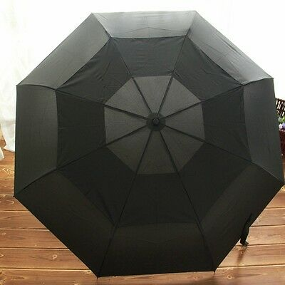New Mens Large double layer Full auto Open Business Rain Umbrella Windproof