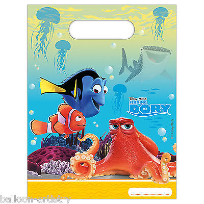 6 Disney Pixar's Finding Dory Children's Party Plastic Favour Gift Loot Bags