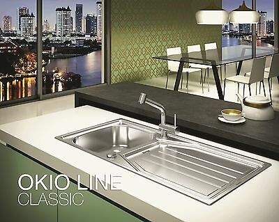 Rodi Okio Special Edition 1.0 Bowl Stainless Steel Kitchen Sink - Inc Waste