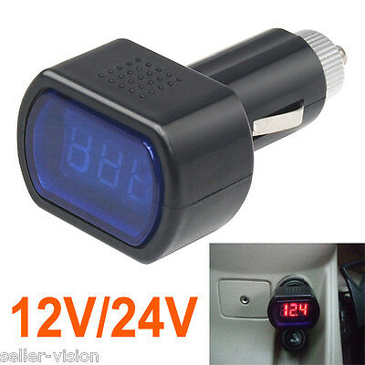 Digital Mini LED 12V/24V Car Vehicle System Voltmeter Voltage Gauge Volt Meter