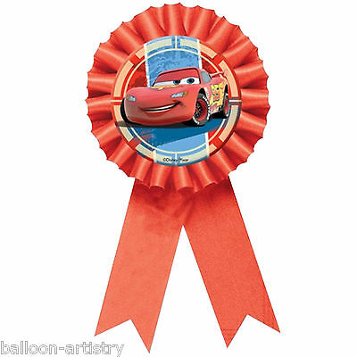 Disney CARS 2 Party Lightning McQueen Award Ribbon Prize Badge