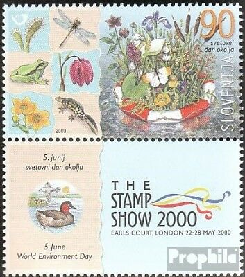 slovenia 311 with zierfeld mint never hinged mnh 2000 International Day the Envi