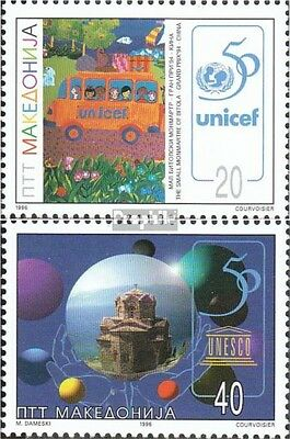 makedonien 91-92 mint never hinged mnh 1996 50 years UNESCO / UNICEF