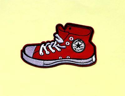 Iron On Embroidered Red Shoe / Sneaker Patch - Applique - IR1