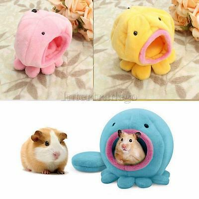 Octopus Shape Rat Hamster Bird Squirrel Warm Soft Bed Pet Toy House Cage PICK