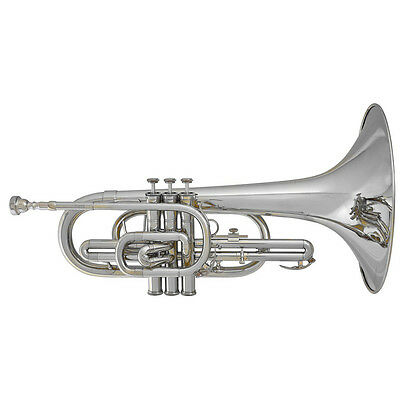 Blessing BM-100 Marching F Mellophone Outfit with Case (Silver)