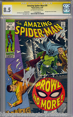 Amazing Spider-Man #79 Oww Cgc 8.5 Ss Stan Lee Signature  Series  #1197098019