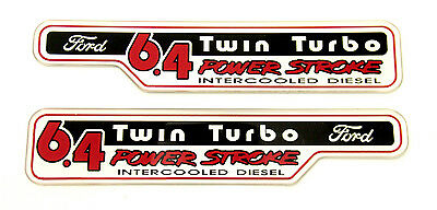 6.4 POWERSTROKE Twin Turbo EMBLEM (PAIR)  SATIN