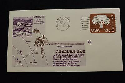 Space Cover 1977 Machine Cancel Voyager One Explore Jupiter Saturn Launch (1862)