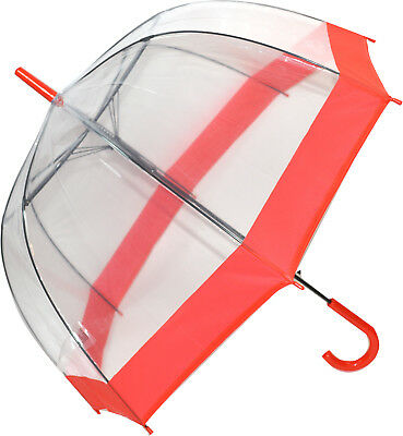 Soake Clear Dome Umbrella - Red