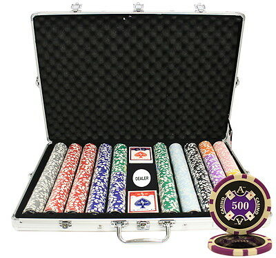 1000pcs 14G ACE CASINO TABLE CLAY POKER CHIPS SET CUSTOM BUILD