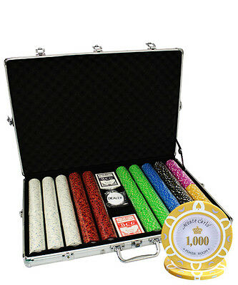 1000 14g POKER CHIPS SET MONTE CARLO POKER ROOM NEW CUSTOM BUILD